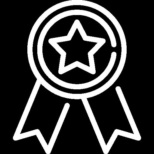 An icon depicting an award ribbon